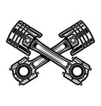 crossed motorcycle pistons design element vector image vector image
