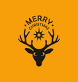 deer and star vector image