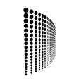 dot line halftone pattern design dotted background vector image vector image