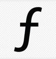 dutch guilder or florin sign vector image vector image