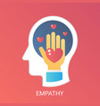 empathy concept modern gradient flat style vector image