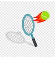 flying tennis ball isometric icon vector image