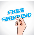 Free Shipping in hand vector image