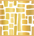gold foil rectangle shapes hand drawn pattern vector image