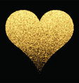 Gold sparkle heart background vector image vector image