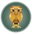 Golden Owl vector image vector image