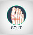 gout logo icon vector image