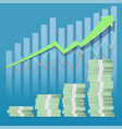 growing financial graph vector image