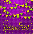 hand drawn lettering for carnival party vector image vector image
