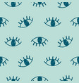 hand drawn seamless pattern with open eyes vector image vector image