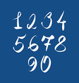 Handwritten numbers modern numbers set vector image