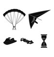 hang glider parachute racing car water scooter vector image
