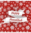 Happy Hanukkah card with snowflakes vector image vector image