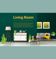 interior background modern living room vector image