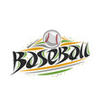 logo for baseball vector image