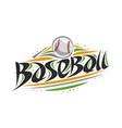 logo for baseball vector image vector image