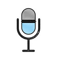 microphone audio isolated icon vector image