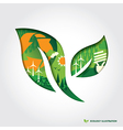 Minimal style Ecology Concept leaf vector image vector image