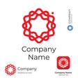 modern stylish flower line swirl logo identity vector image vector image