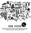 Music elements Grunge musical background vector image vector image