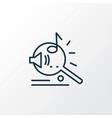 music search icon line symbol premium quality vector image vector image