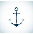 Nautical anchor icon blue vector image vector image