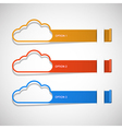 option step cloud background vector image vector image