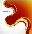 Orange flowing wave vector image vector image
