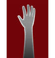 perforated metal hand vector image