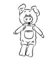 piggy vector image vector image