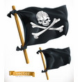 pirate black flag jolly roger 3d icon vector image vector image
