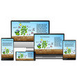 process photosynthesis on electronic devices vector image