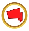Red banner icon cartoon style vector image