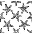 seamless zen art style pattern with starfish vector image vector image