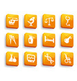 set medical buttons vector image vector image