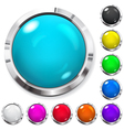 set multicolored buttons vector image