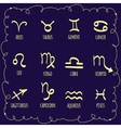 Set of astrological zodiac symbolsHoroscope signs vector image vector image