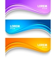 Set of wavy colorful banners vector image vector image