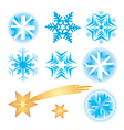 Snowflakes christmas stars vector image vector image