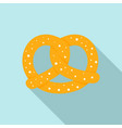 soft pretzel icon flat style vector image vector image