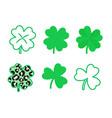 st patricks day shamrock leaves set clover leaf vector image vector image