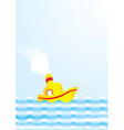 summer boat vector image vector image