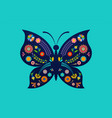 summer festival fair with patterned butterfly vector image vector image