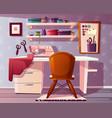 tailor seamstress room handicraft vector image