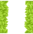 template with leaves vector image