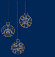 three christmas ball toy decorations hanging vector image vector image