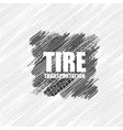 tire tracks square background vector image vector image