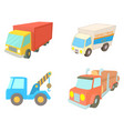 truck icon set cartoon style vector image