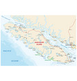 vancouver island map vector image vector image
