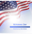 veterans day remember and honor - poster vector image